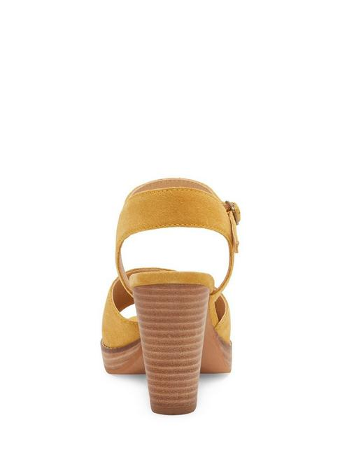 NANIKA LEATHER HIGH HEEL, GOLDEN YELLOW