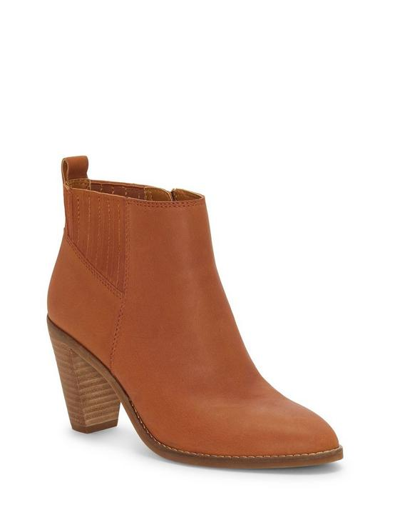 NESLEY LEATHER BOOTIE, DARK BROWN, productTileDesktop