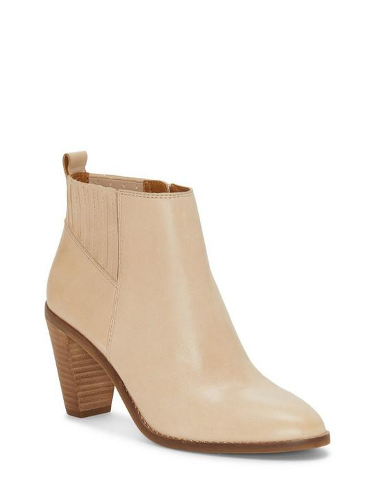 NESLEY LEATHER BOOTIE, MEDIUM LIGHT BEIGE, productTileDesktop
