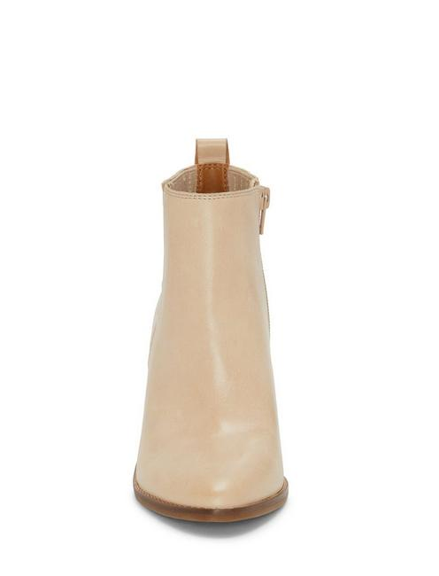 NESLEY LEATHER BOOTIE, MEDIUM LIGHT BEIGE