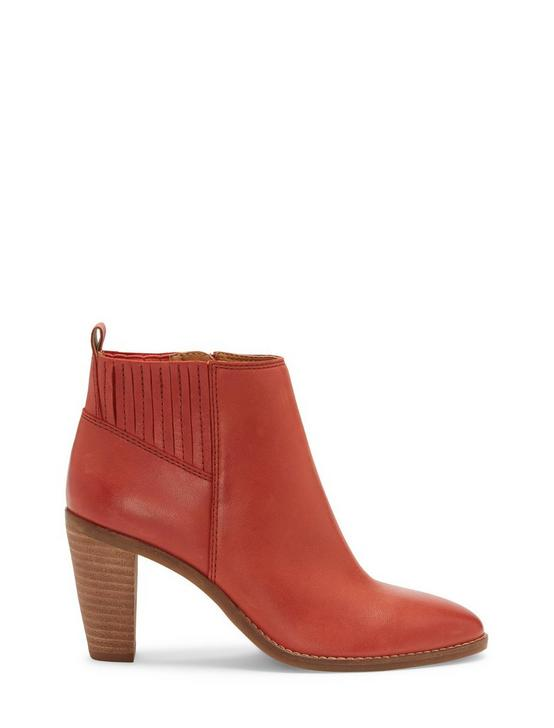 NESLEY LEATHER BOOTIE, LIGHT RED, productTileDesktop