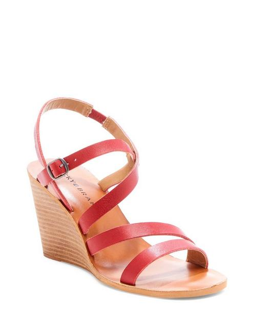 NOEMIA WEDGE, DARK RED