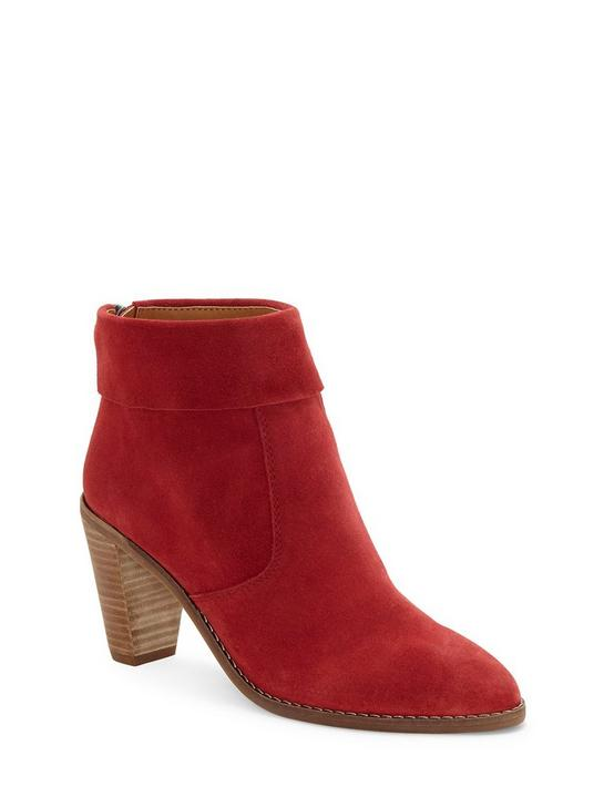 NYCOTT SUEDE BOOTIE, DARK RED, productTileDesktop