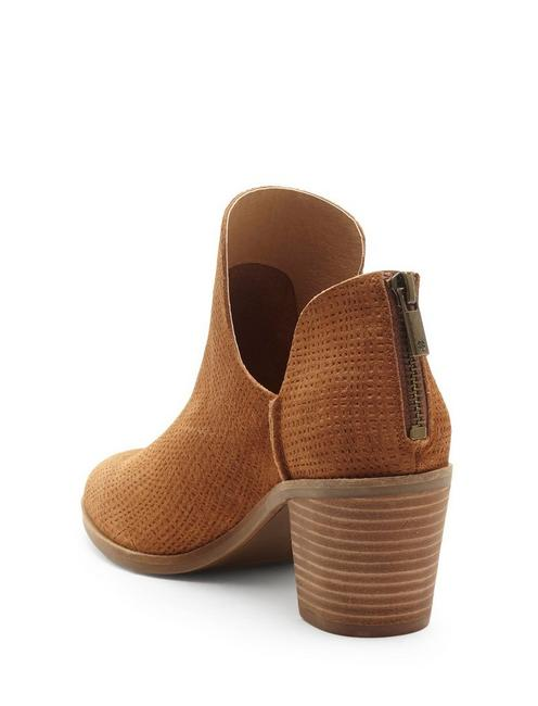 POWE BOOTIE, OPEN BROWN/RUST