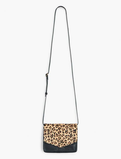 LEOPARD RELA CROSSBODY, BRIGHT YELLOW