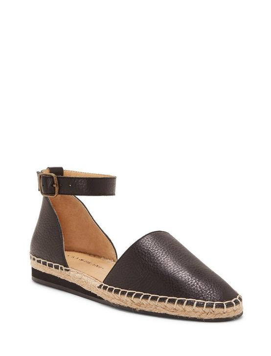 RENIYA LEATHER ESPADRILLE FLAT, BLACK, productTileDesktop