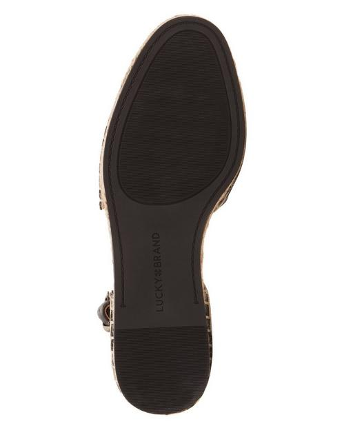 RENIYA LEATHER ESPADRILLE FLAT, BLACK