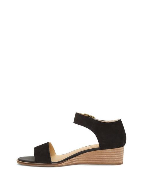 RIAMSEE SUEDE WEDGE, FEATHER