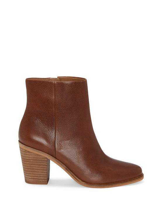 RYLAH LEATHER BOOTIE, MEDIUM DARK BROWN, productTileDesktop