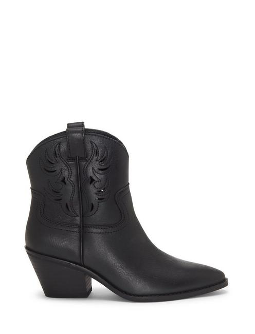 TALOUSE WESTERN LEATHER BOOTIE, BLACK
