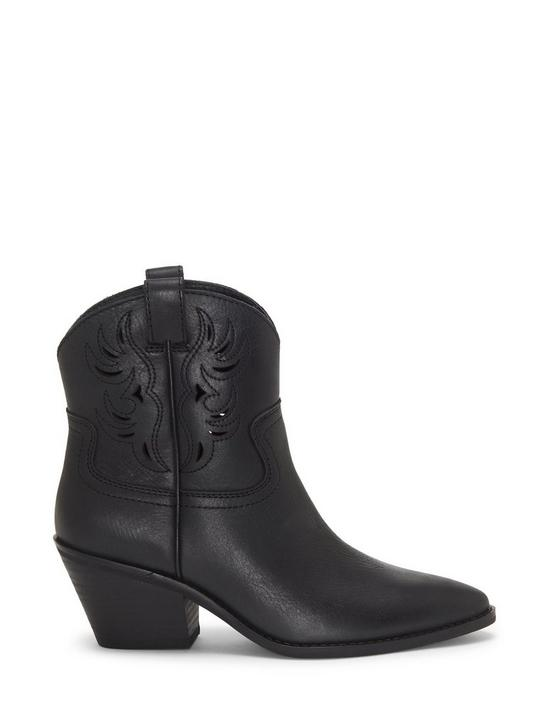 TALOUSE WESTERN LEATHER BOOTIE, BLACK, productTileDesktop