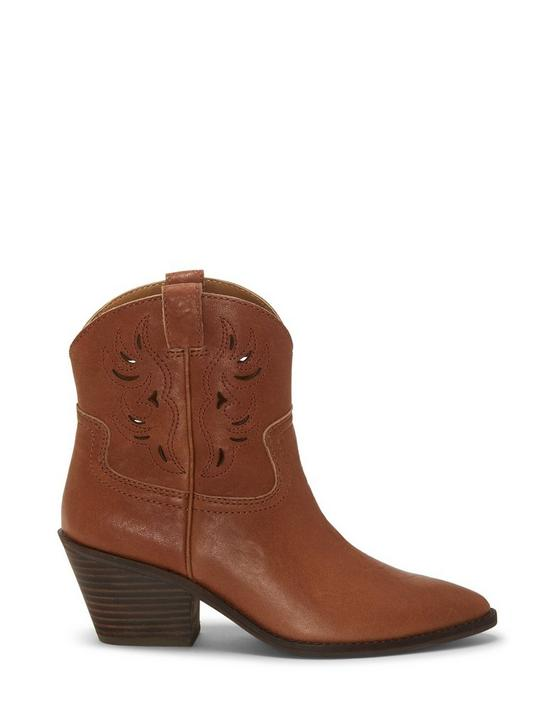 TALOUSE WESTERN LEATHER BOOTIE, LIGHT BROWN, productTileDesktop