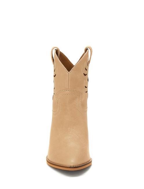 TALOUSE WESTERN BOOTIE, MEDIUM DARK BEIGE