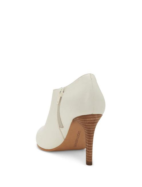 TIRAE LEATHER HEEL, WHITE