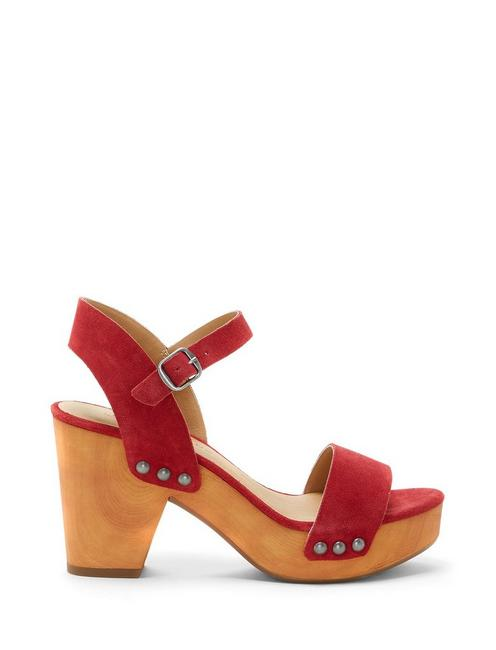 TRISA HEEL, LIGHT RED