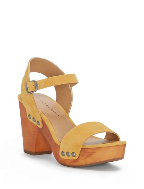 TRISA HEEL, DARK YELLOW