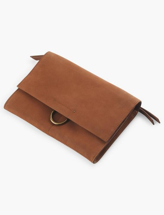 CONVERTIBLE WALLET, MEDIUM DARK BROWN, productTileDesktop