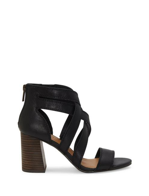 VYRAH LEATHER HEEL, BLACK