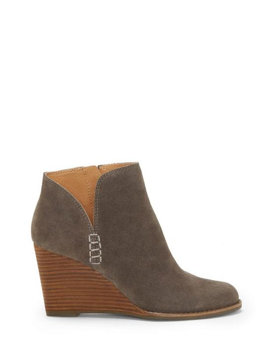 YIMMIE WEDGE BOOTIE, DARK GREY, productTileDesktop