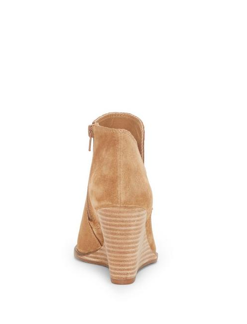 YIMMIE WEDGE BOOTIE, MEDIUM DARK BROWN