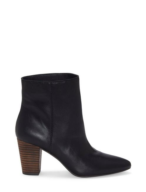 YUBAL LEATHER BOOTIE, BLACK