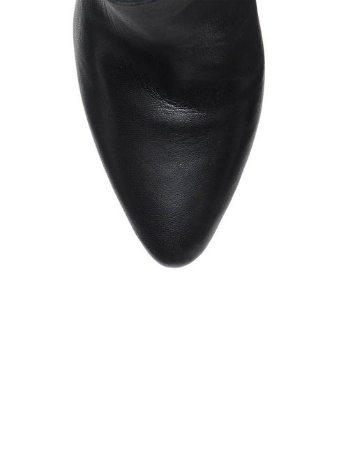 YUBAL LEATHER BOOTIE, BLACK