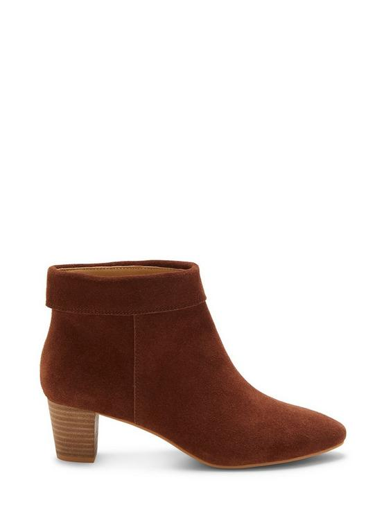 ZAPRIKA SUEDE BOOTIE, DARK BROWN, productTileDesktop