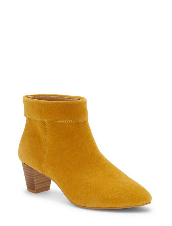 ZAPRIKA SUEDE BOOTIE, LIGHT YELLOW, productTileDesktop