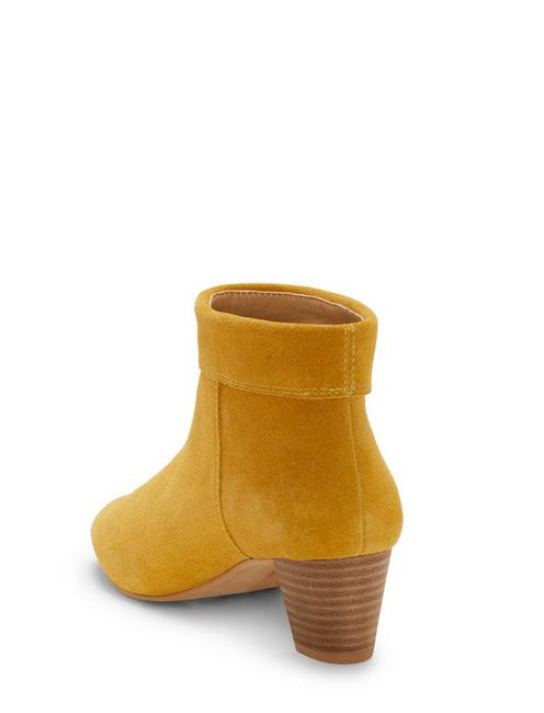 ZAPRIKA SUEDE BOOTIE, LIGHT YELLOW
