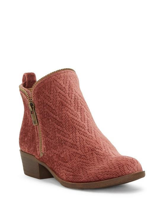 GIRLS 11-5 BARTALINO BOOTIE, LIGHT RED, productTileDesktop