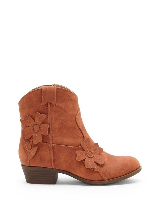 GIRLS 11-5 BETHEN BOOTIE, LIGHT BROWN, productTileDesktop
