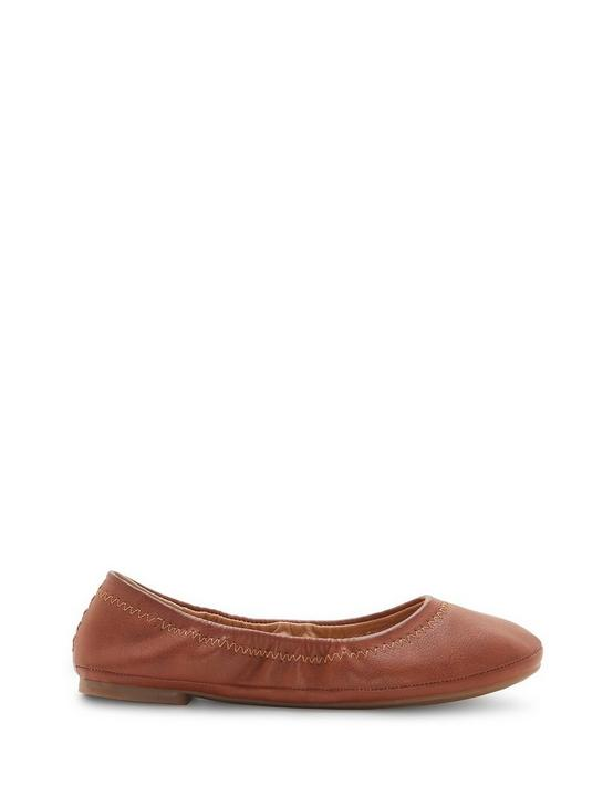 GIRLS 11-5 EMMIE FLAT, OPEN BROWN/RUST, productTileDesktop