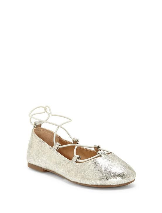 GIRLS 11-5 EVIEE FLAT, SILVER, productTileDesktop