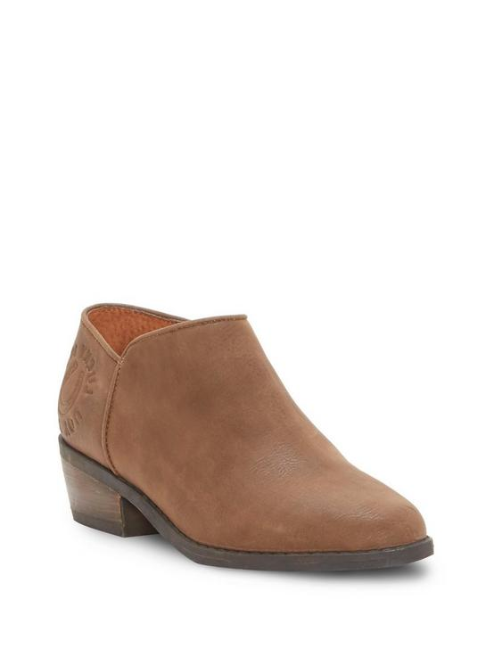 GIRLS 11-5 FAITHLY BOOTIE, DARK BROWN, productTileDesktop