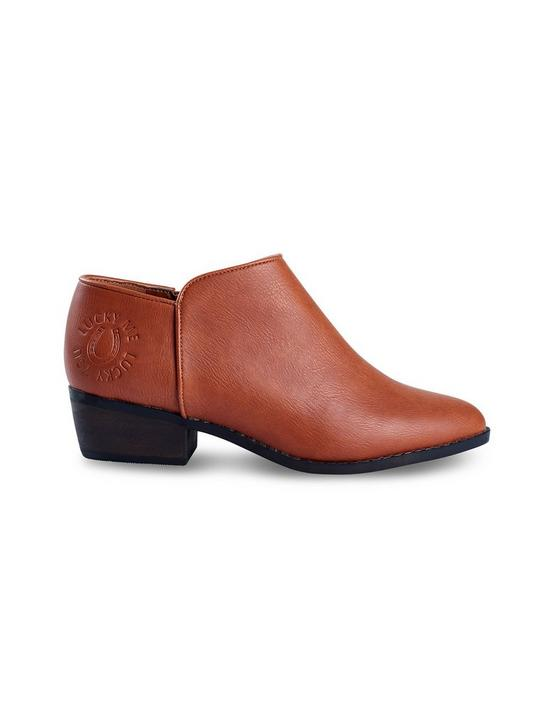 GIRLS 11-5 FAITHLY BOOTIE, MEDIUM DARK BROWN, productTileDesktop