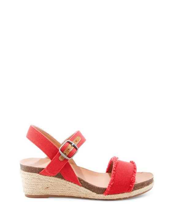 JARDELINE JUTE WEDGE, BRIGHT RED, productTileDesktop