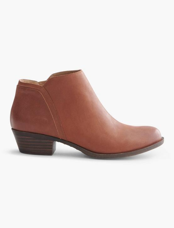 BAREESA SUEDE BOOTIE, DARK BROWN, productTileDesktop