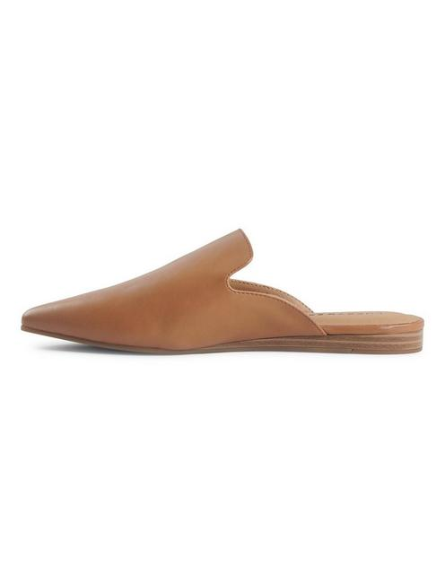 BRYNNUH SLIDE FLAT, MEDIUM DARK BROWN