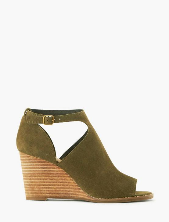 SIDE CUTOUT WEDGE HEEL, LIGHT GREEN, productTileDesktop