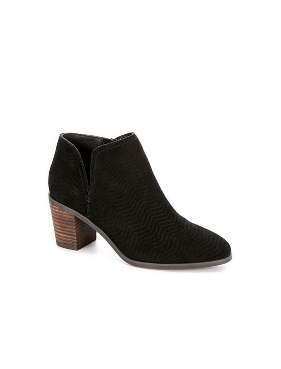 PARNESA PERFORATED SUEDE BOOTIE, BLACK, productTileDesktop