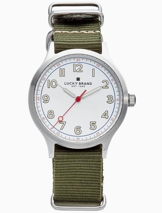 JEFFERSON NATO OLIVE WATCH, 38MM, SILVER, productTileDesktop