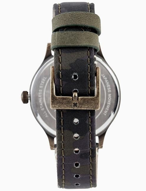 JEFFERSON CAMO WATCH, 38MM, GOLD