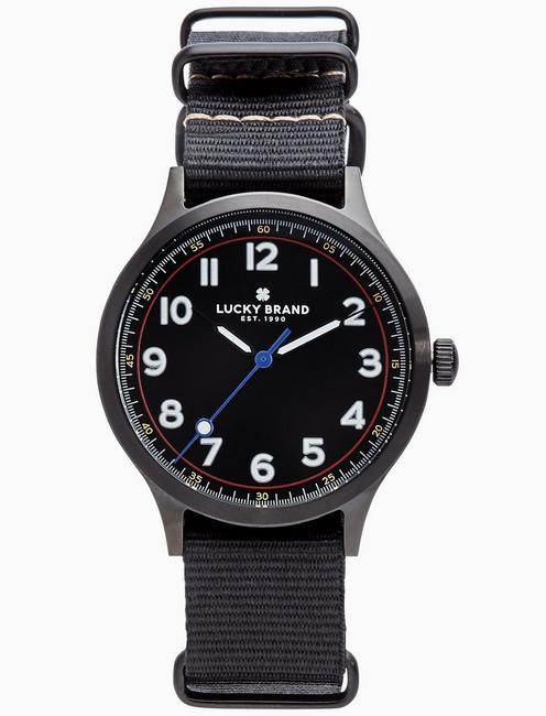 Lucky Jefferson Nato Black Watch, 38mm