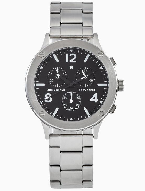 ROCKPOINT SILVER MULTI-FUNCTION WATCH, 42MM, SILVER, productTileDesktop