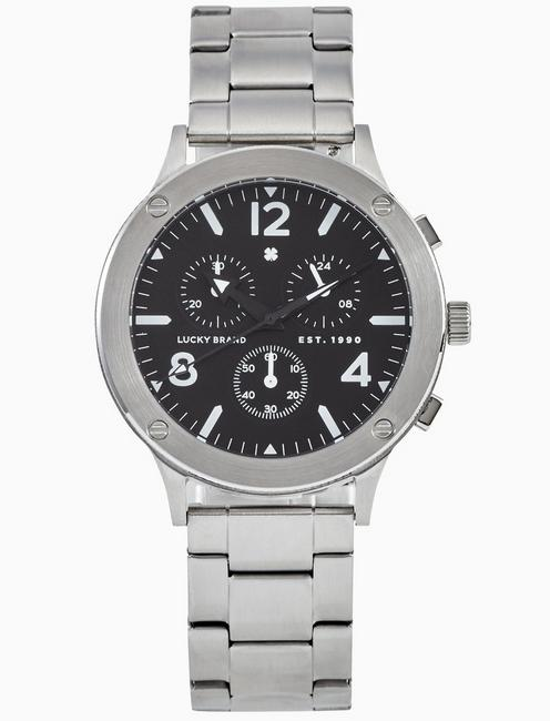 Lucky Rockpoint Silver Multi-Function Watch, 42mm