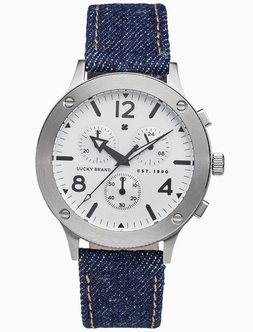 Lucky Rockpoint Multi-Function Denim Watch, 42mm