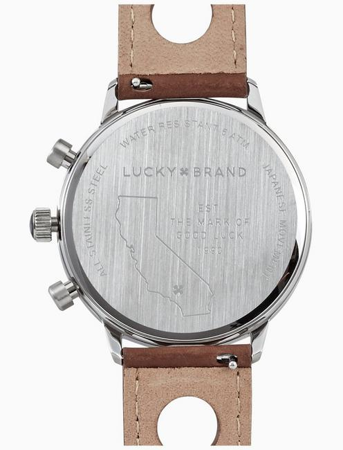 FAIRFAX RACING PERFORATED WATCH, 40MM, SILVER