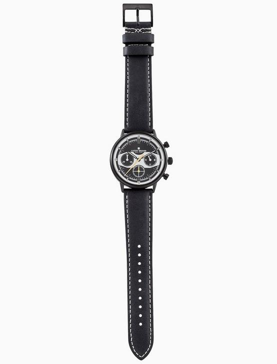 FAIRFAX RACING BLACK LEATHER WATCH, 40MM, BLACK, productTileDesktop