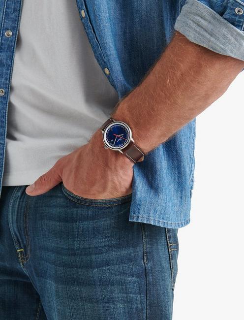 FAIRFAX BLUE WATCH, 40MM, SILVER