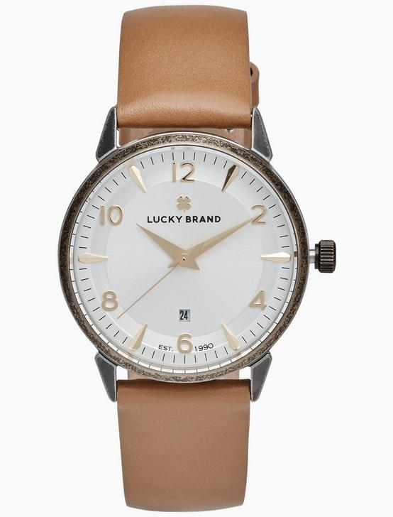 TORREY BROWN LEATHER WATCH, 34MM, TWO TONE, productTileDesktop